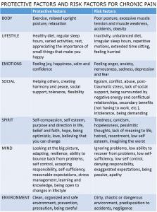 chronic pain factor chart LARGE