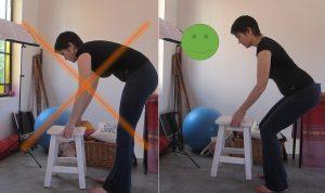 picking up stool