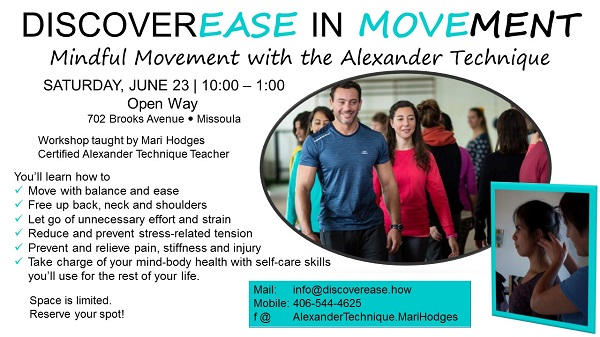 DiscoverEASE in Movement: Mindful movement with the Alexander Technique