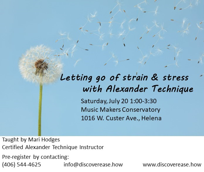 Letting go of strain and stress workshop in Helena