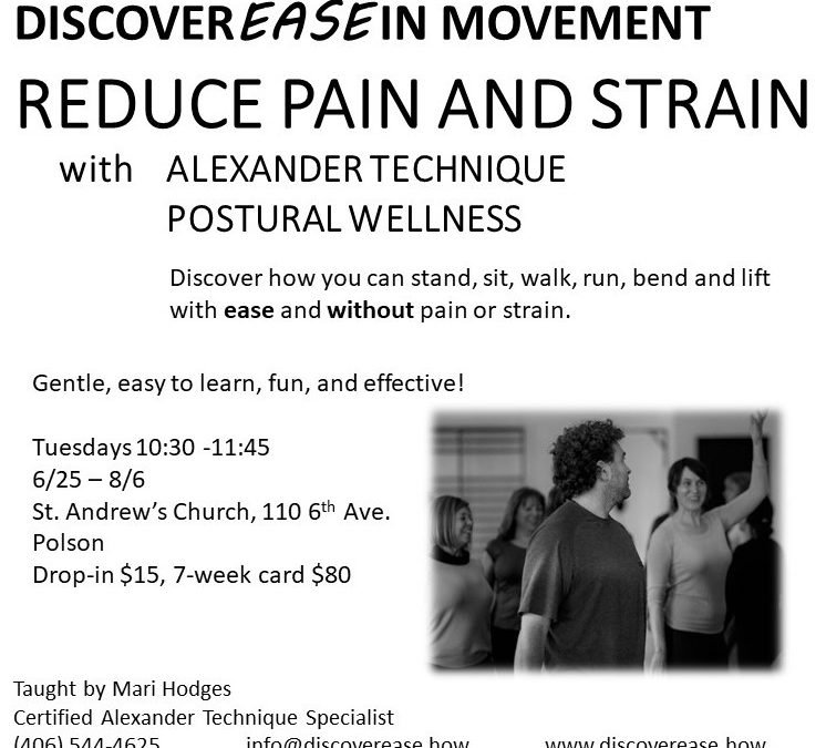 New Alexander Technique class in Polson