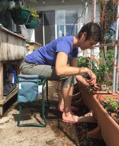 gardening seated
