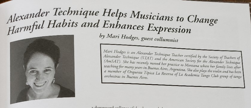 Article published in Cadenza magazine